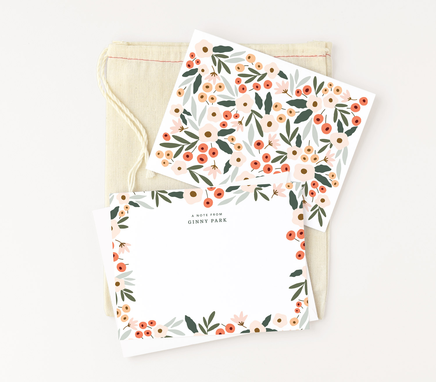 Blush Field Stationery Set